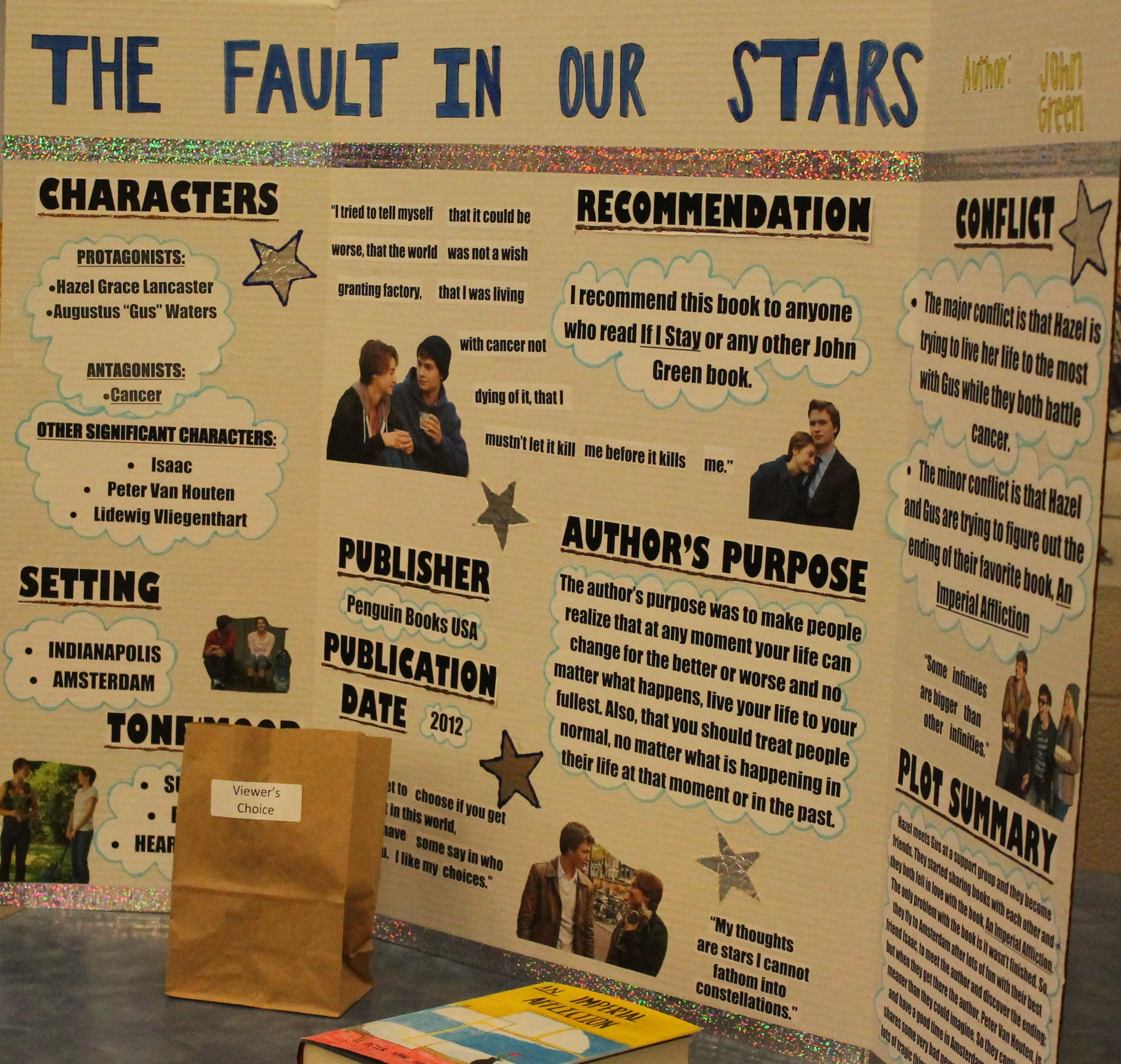 resume The Fault In Our Stars Resume the fault in our stars reading fair project middle school family night