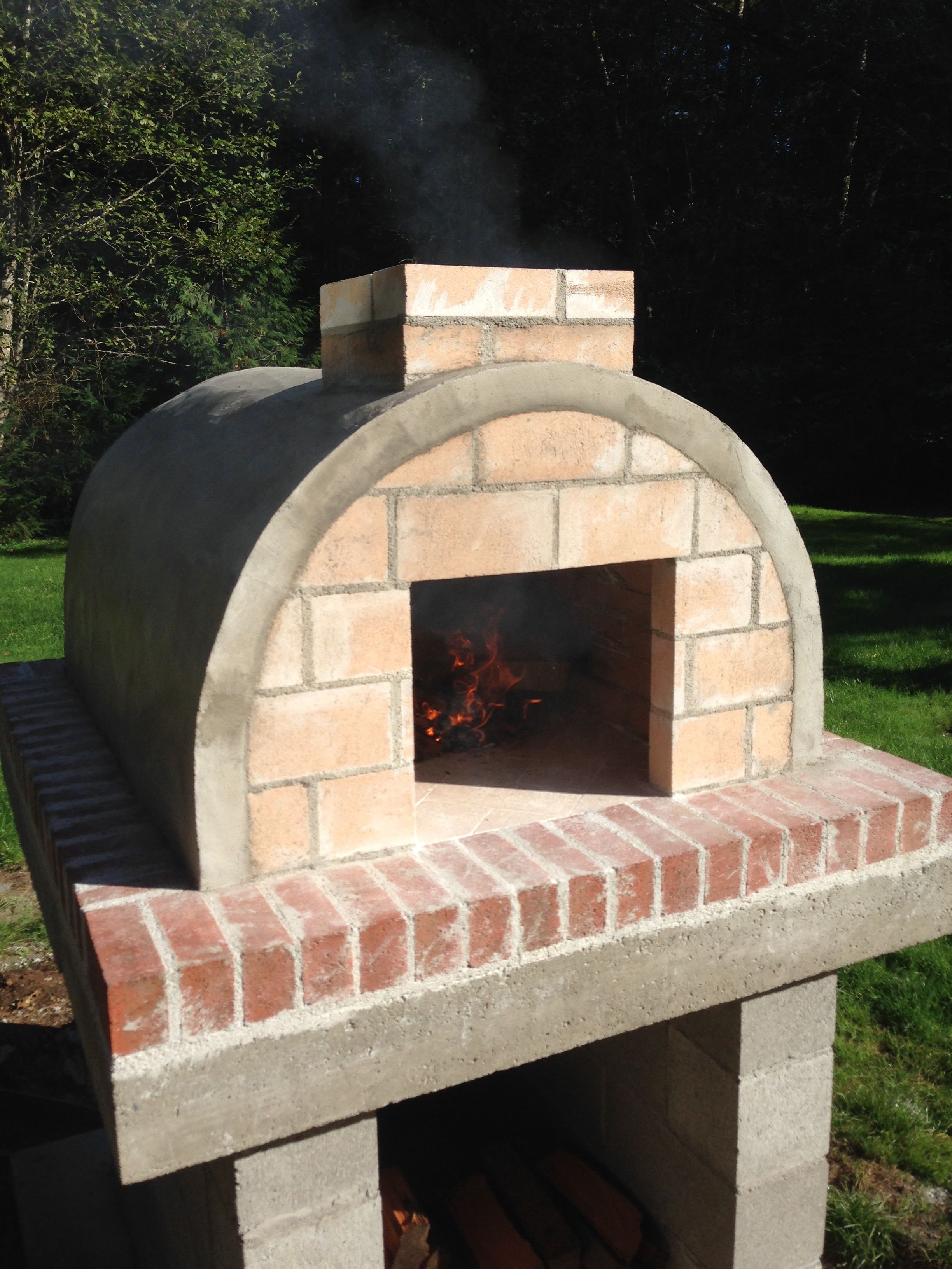 Anderson family woodfired outdoor diy pizza oven by