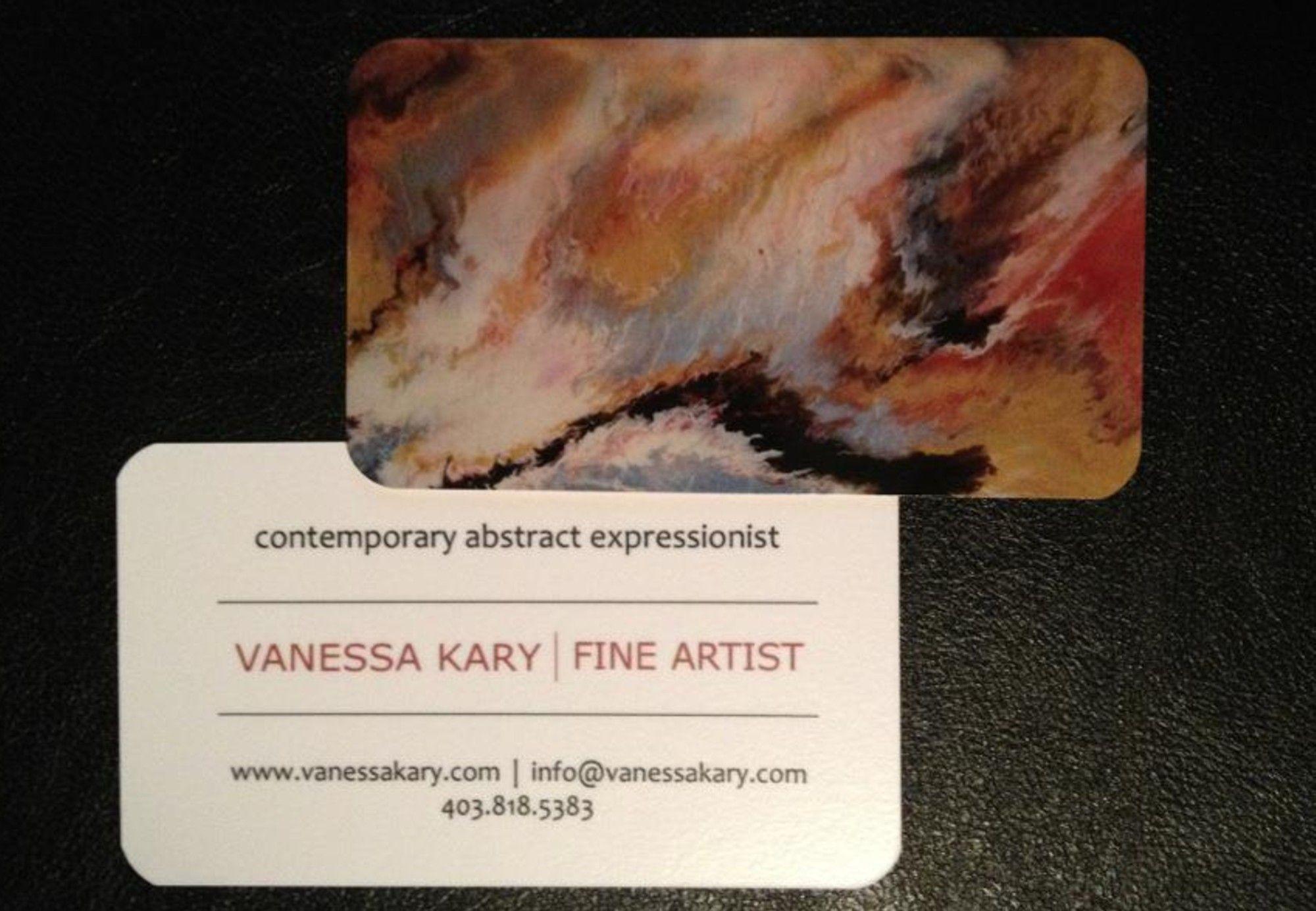 Vanessa kary fine artist business card 2012 art pinterest vanessa kary fine artist business card 2012 colourmoves