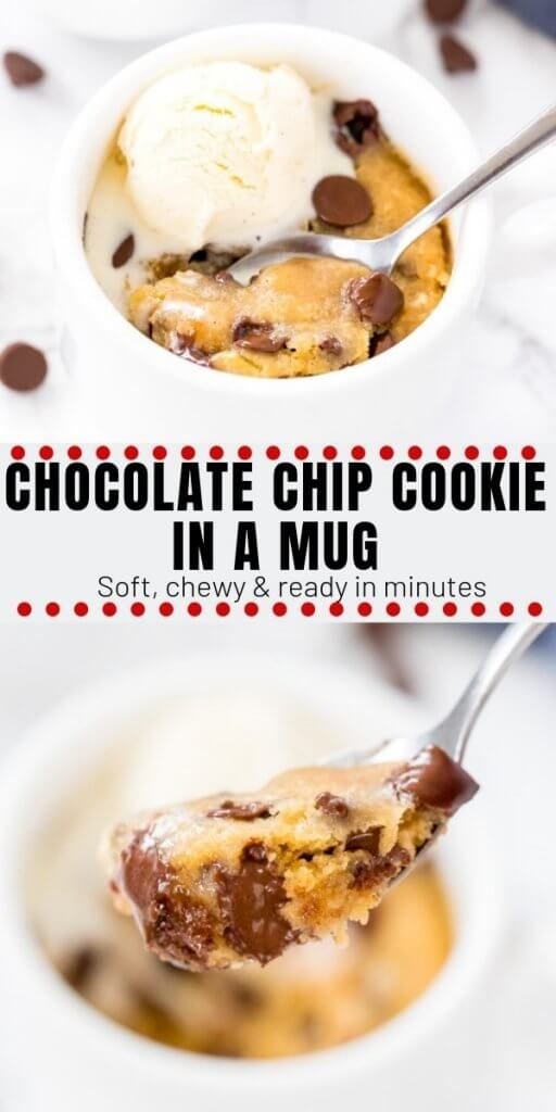 Chocolate Chip Cookie in a Mug - Made in the Micro