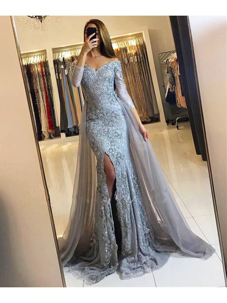 Mermaid Lace Long Prom Formal Evening Party Dresses 996021352 | Prom ...
