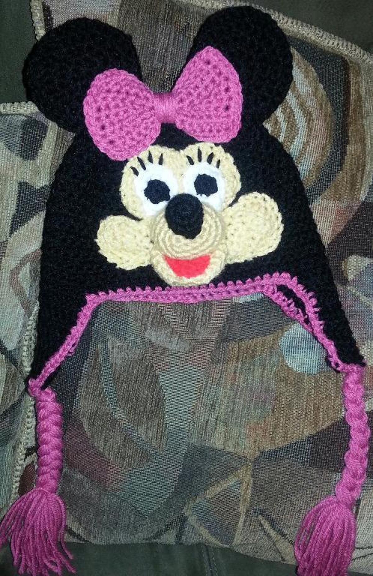 Minnie Mouse Hat Craftsy Patterns Pinterest Minnie Mouse