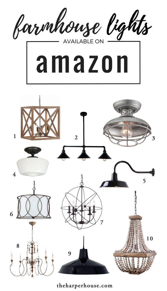 Farmhouse Decor On Amazon Making Our New House Our Home - Joanna gaines kitchen light fixtures