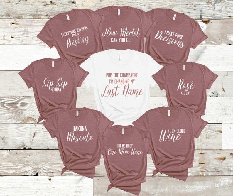 Wine Puns - Winery Themed Bridal Party, Bachelorette Party Tees