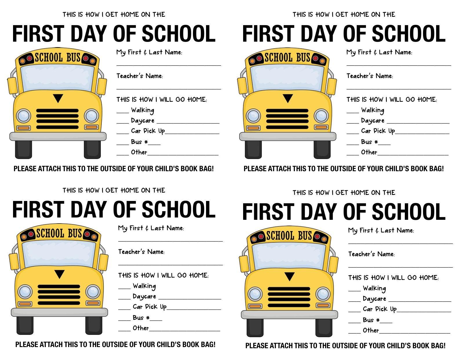 How I Get Home From School Kids Parents School Children Crafts Back To School School Supplies