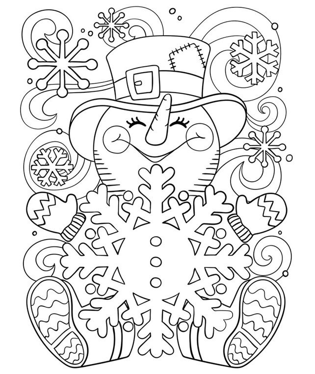 Happy Little Snowman on crayola.com | Coloring 2 | Pinterest ...