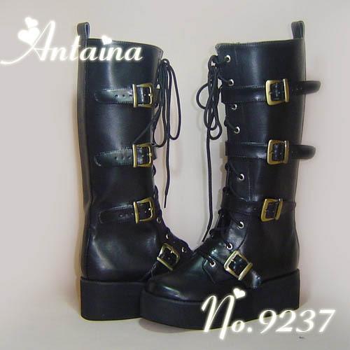 97.30$  Watch now - http://ali2if.worldwells.pw/go.php?t=32789668572 - Princess sweet lolita Lolilloliyoyo antaina shoes custom Antaina punk platform zipper platform boots 9237 black  PU feather