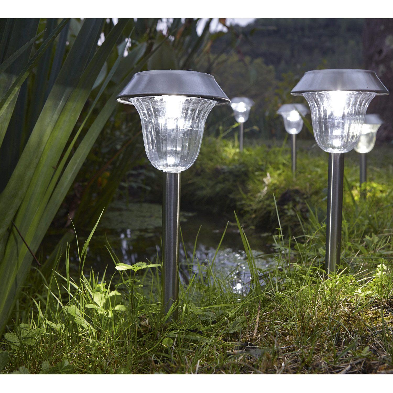 4 balises solaires #jardin #Décoration #eclairage #luminaire ...