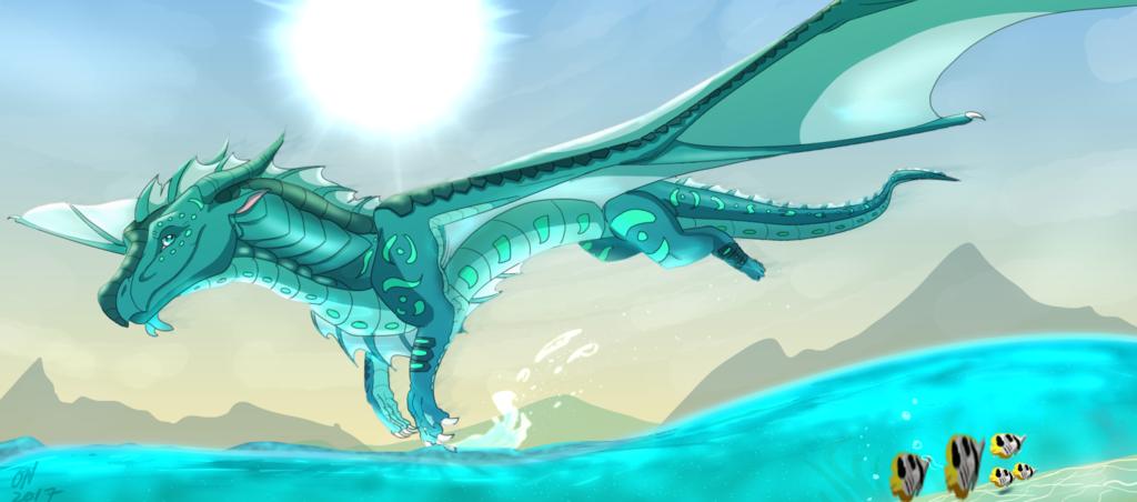 Over The Ocean by CyrilTheBlueFire-D | Wings of fire | Pinterest ...