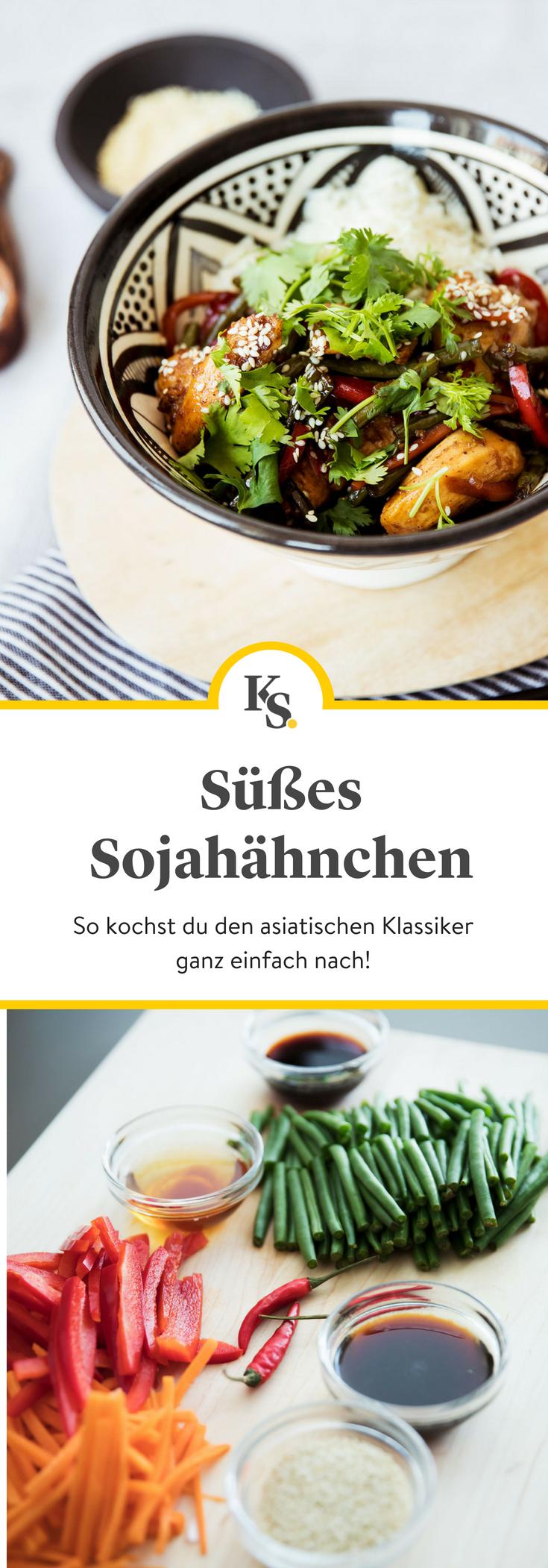 Das Susse Sojahahnchen Gewurzt Mit Muskatnuss Und Der Zugabe Von Karotte Paprika Und Grunen Bohnen Ergibt Ein In 2020 Rezepte Einfache Gerichte Schnelles Abendessen