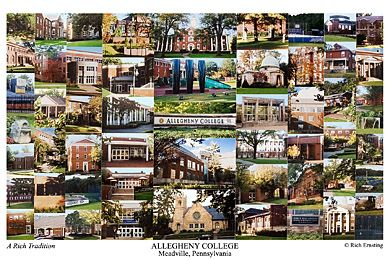Allegheny College Campus Art Print My Favorite Art