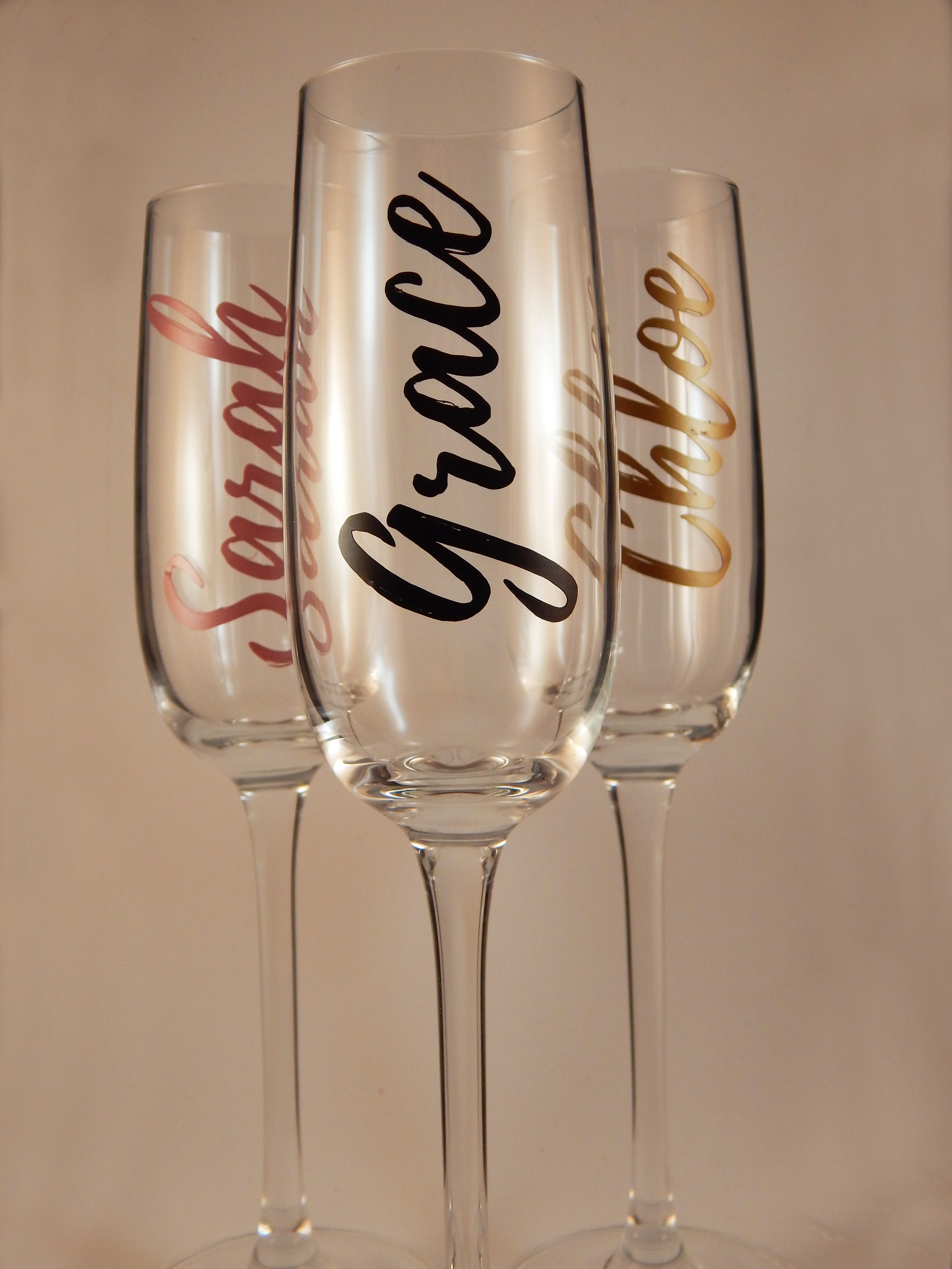 Personalised Champagne Flutes For Bridesmaids Guests Friends Family And More