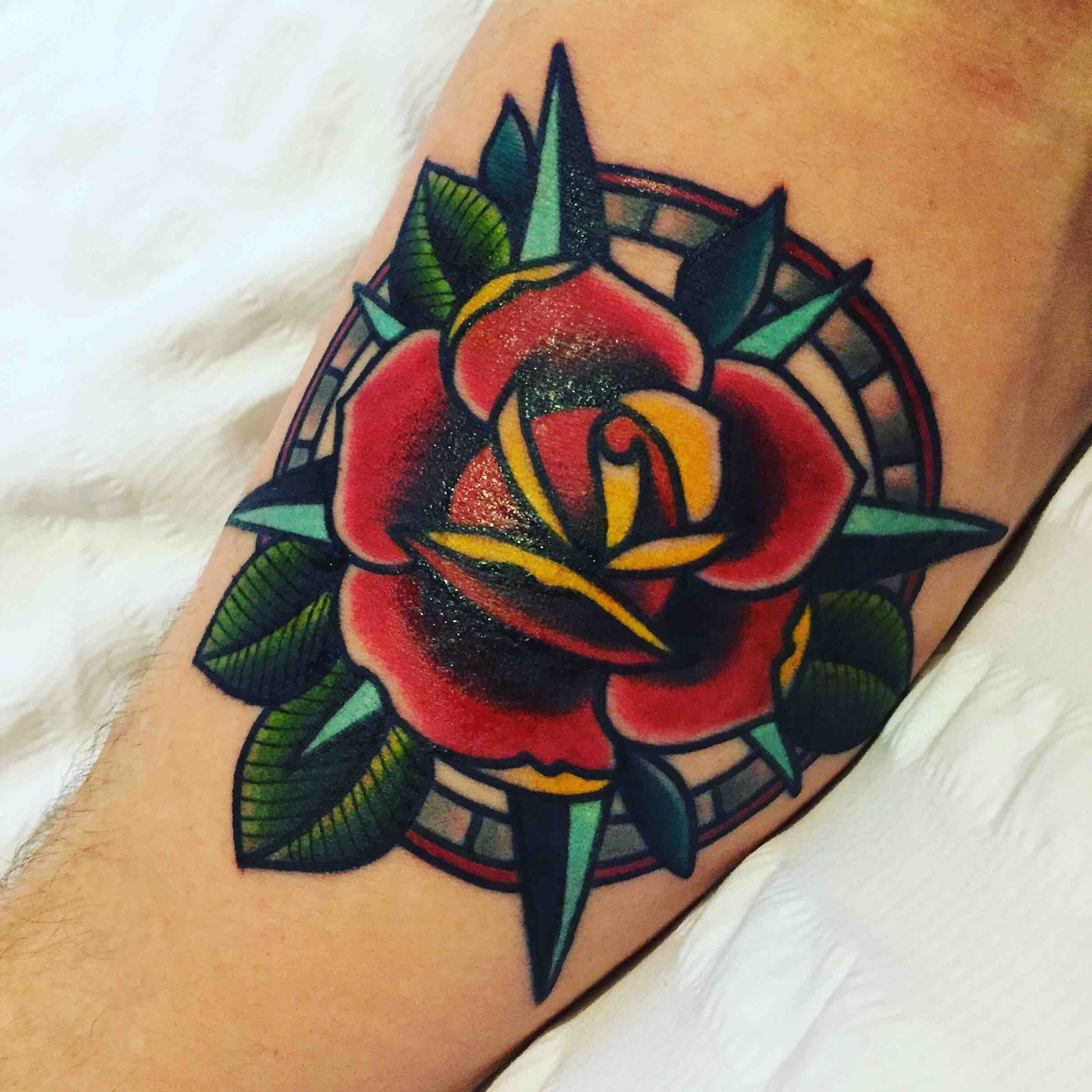 Rose and Compass by Lucy Pryor at Into You London