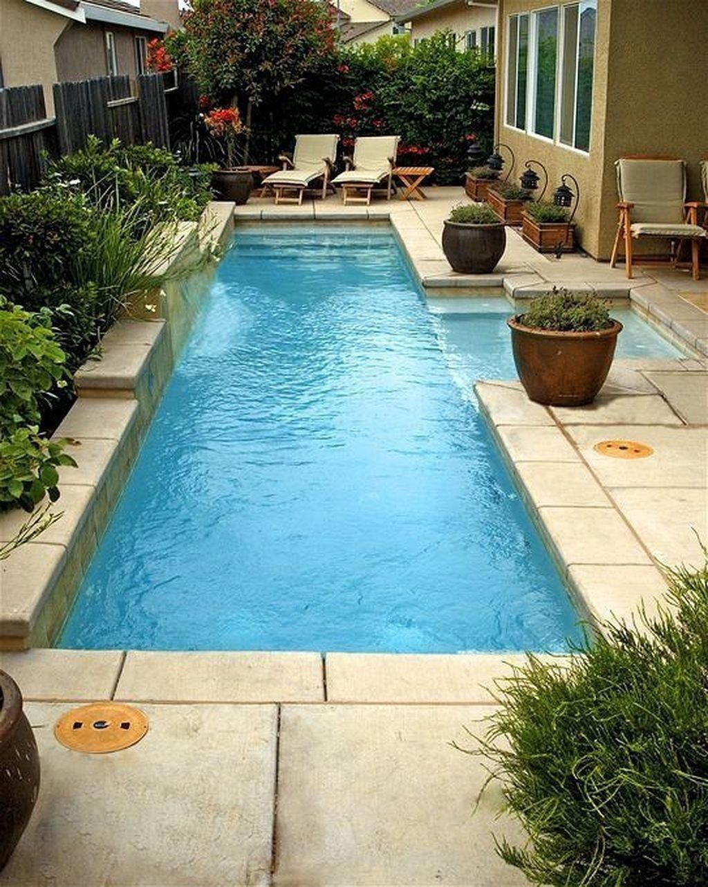 Small Backyard Inground Pool Ideas Small Pool Design Backyard Pool Designs Swimming Pools Backyard