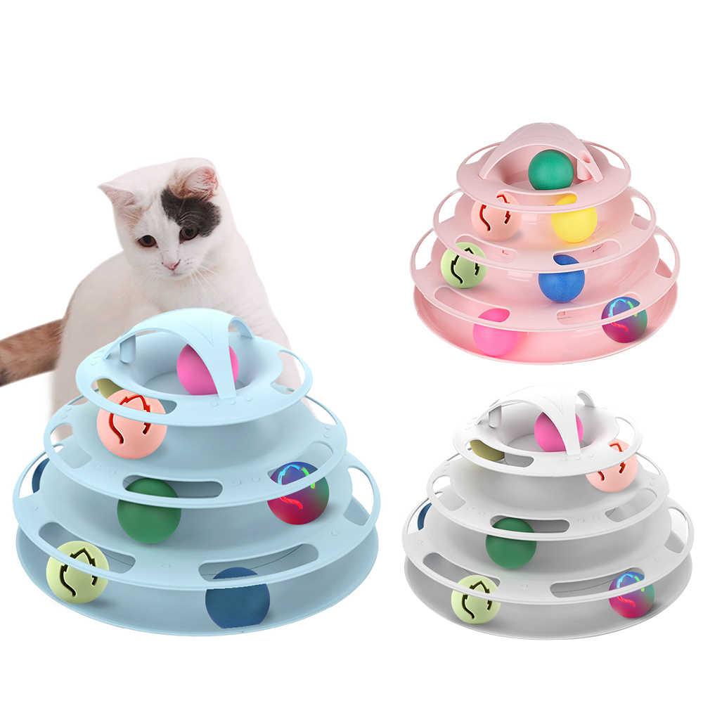 Juguete Interactivo Para Gatos De 3 4 Capas Para Mascotas Pelota Disco Juguetes Para Gato Aliexpress Juguetes Para Gatos Juguetes Hurones Juguetes