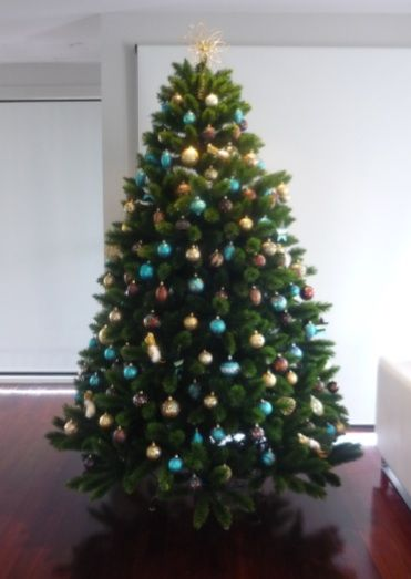 7 5ft Appalachian Christmas Tree Decorated In Chocolate Gold And Blue This Was O Christmas Tree Decorations Buy Christmas Tree Storing Christmas Decorations