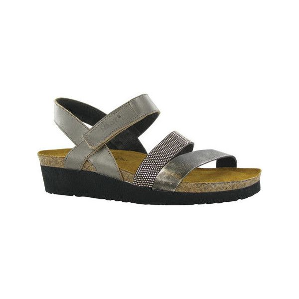 cf68a6847380 Women s Naot Krista Strappy Wedge Sandal - Pewter Leather Metal... ( 145