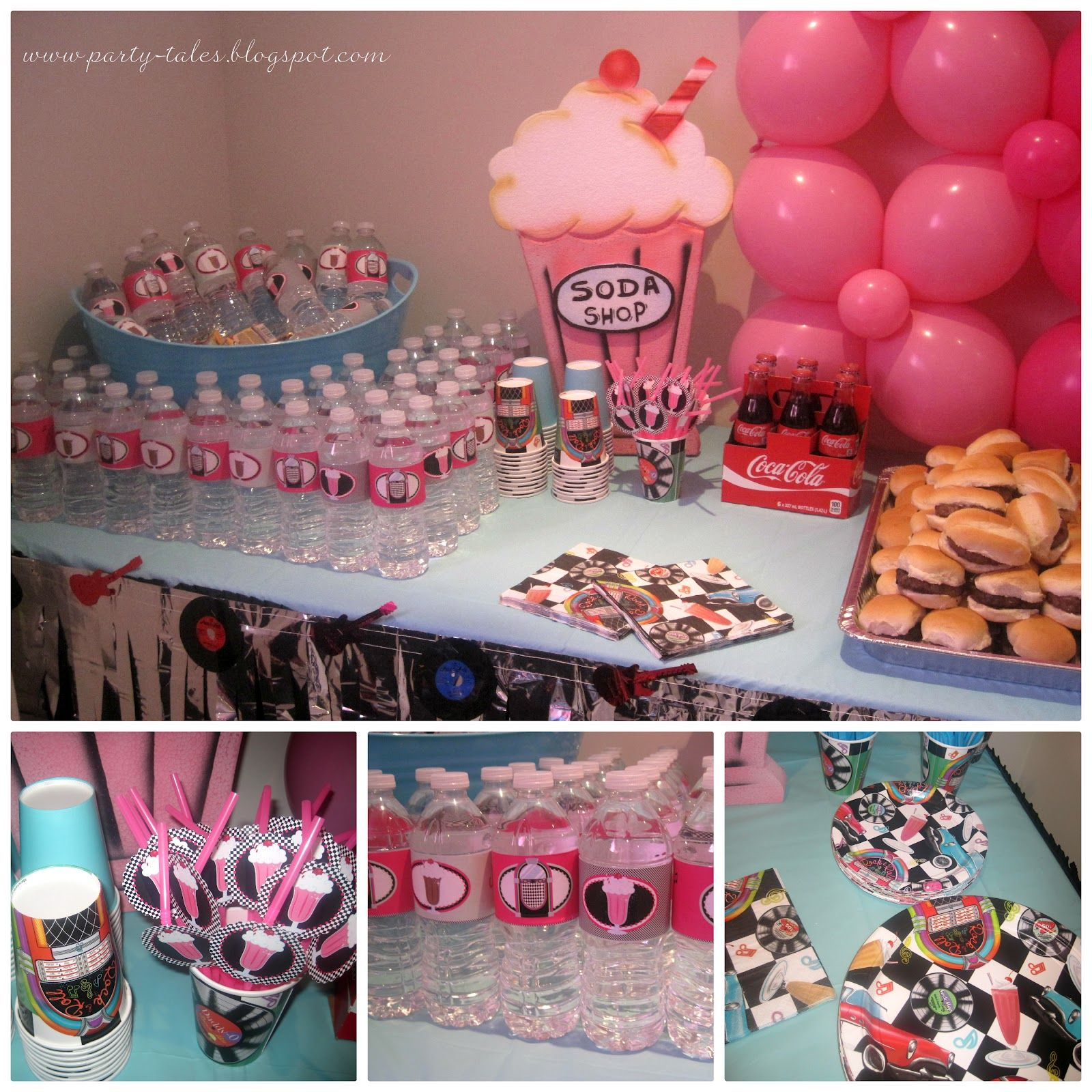 Decoration Ideas Grease Themed Party Part - 46: Party-Tales: ~ Birthday Party ~ 50u0027s Diner Sock Hop PART 2