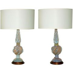 The Marbro Lamp Company - White Opaline Lamps by Seguso