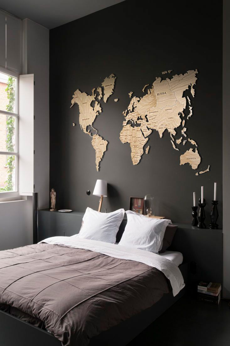 Pin On Idea Wooden bedroom wall decor
