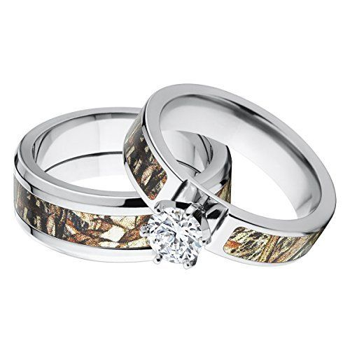 his and hers matching mossy oak duck blind camo wedding ring set http - Cheap Camo Wedding Rings