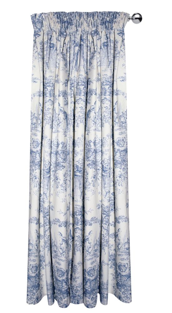 Toile De Jouy Curtain Panel For That French Country Cottage