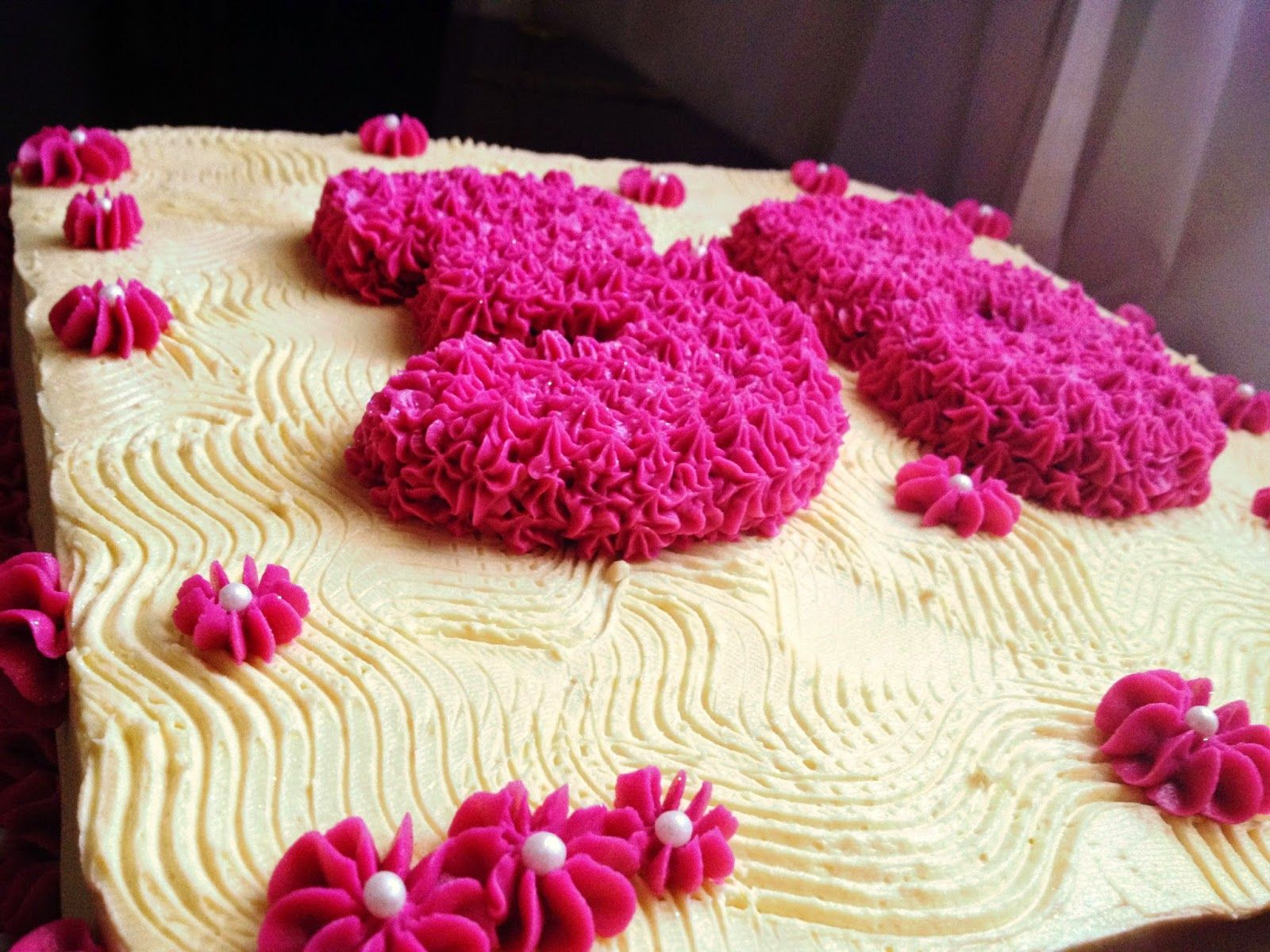 Thirty five years old cake * Pink Cake