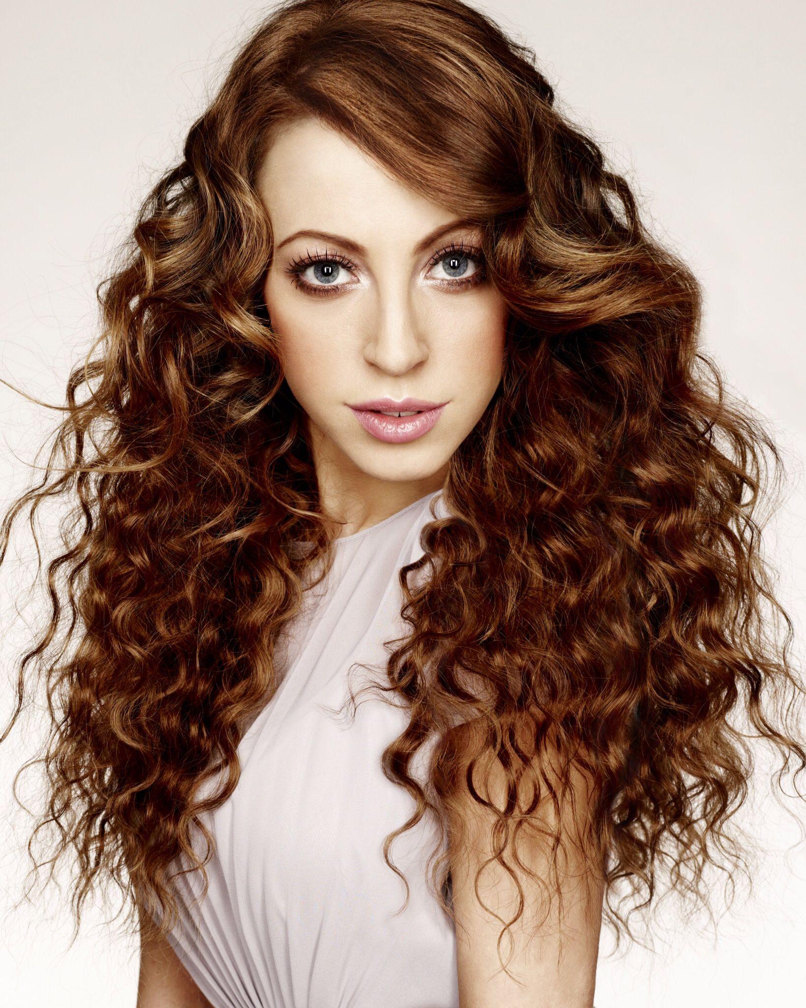 Beautiful face beautiful hair curly wavy brown hair hair