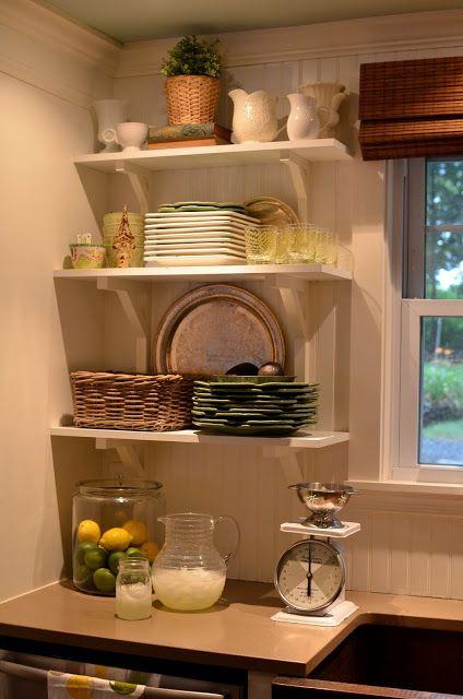 Repisas de madera ideal para espacios pequeños Adornos Vintage 21a31e1f5137