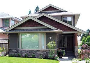 cdbe7fb45da695130c616680fa964ea5 Grey Cedar Shake House Plans on one story, for siding,