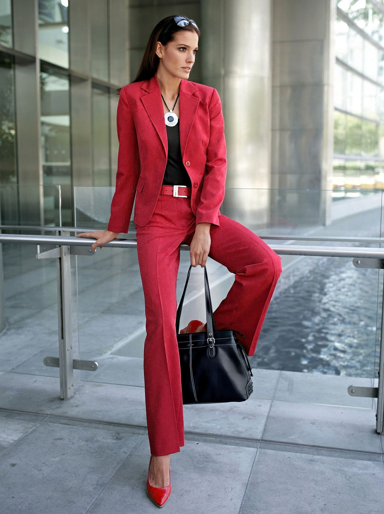 Skirt suits, uniforms, amazing dresses...: Photo | women in red ...