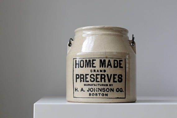 Pottery Jam Crock Homemade Preserves Crock Antique Kitchen Antique Kitchen Crock Glazes For Pottery