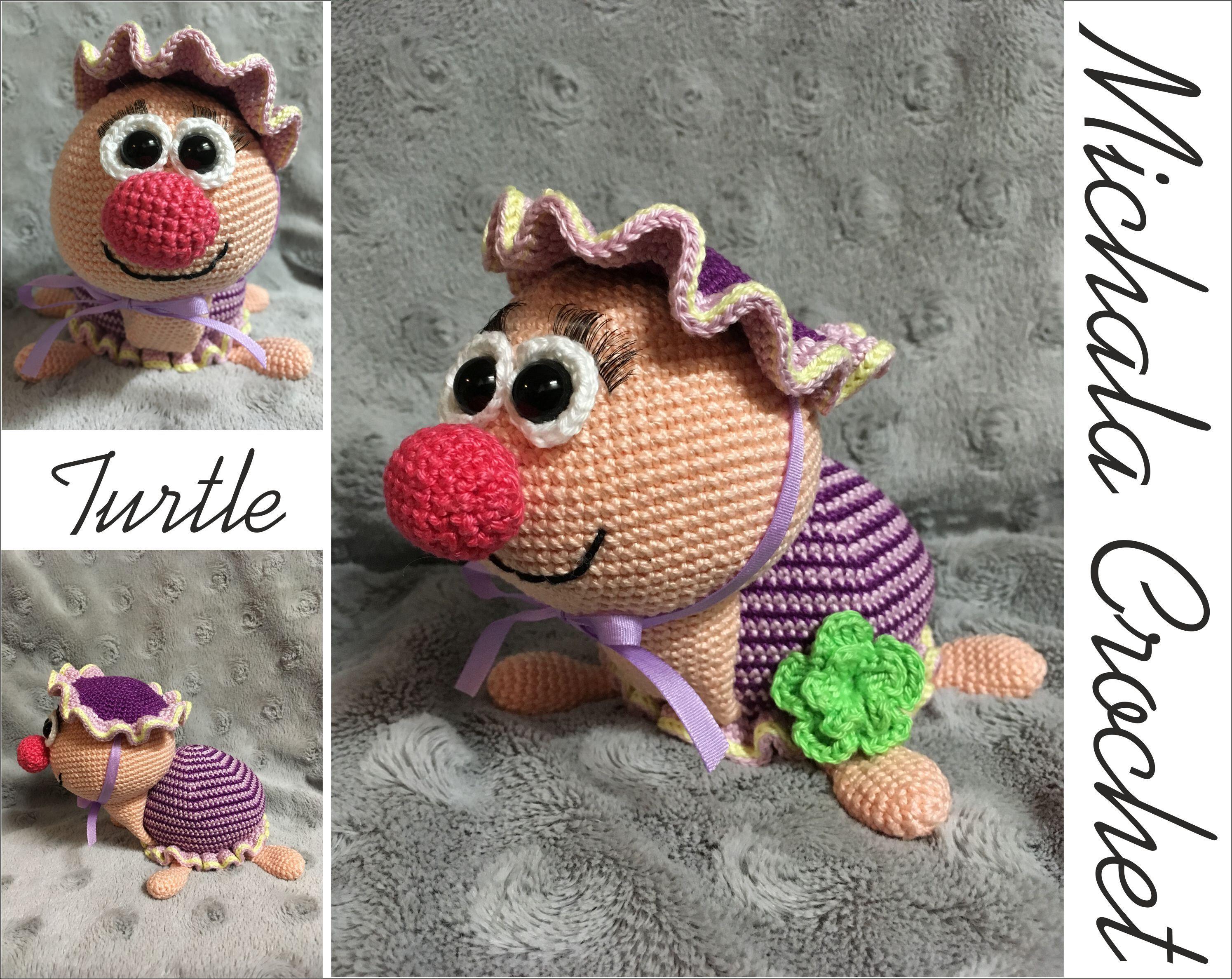 Crochet Turtle PATTERN #crochetturtles