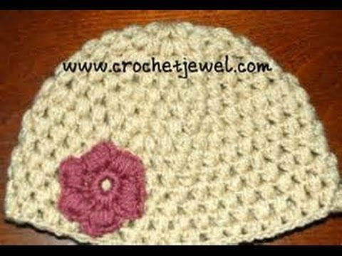 ▷ Crochet Puff Stitch Hat (12 Month old-3 year old & 3-10 year old ...
