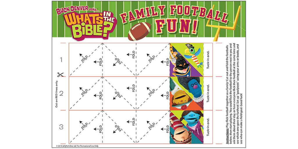 Family Football Fun downloadable from What's In The Bible?. | Fun ...