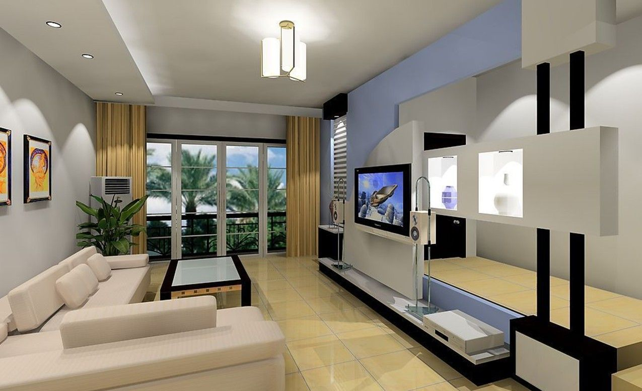 White stripes futuristic living room interior design integrated led - Minimalist Interior Modern Interiors For Every Taste