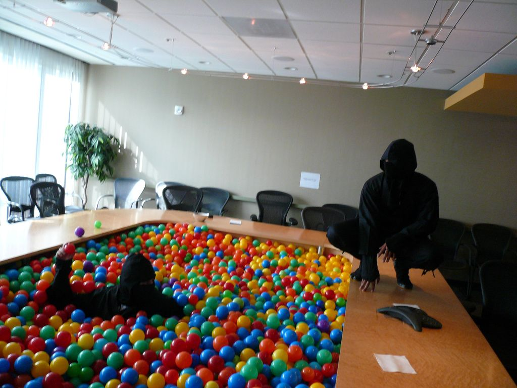 Office Ninja Ballpit Um I Vote For A New Conference Room Desk This One Please