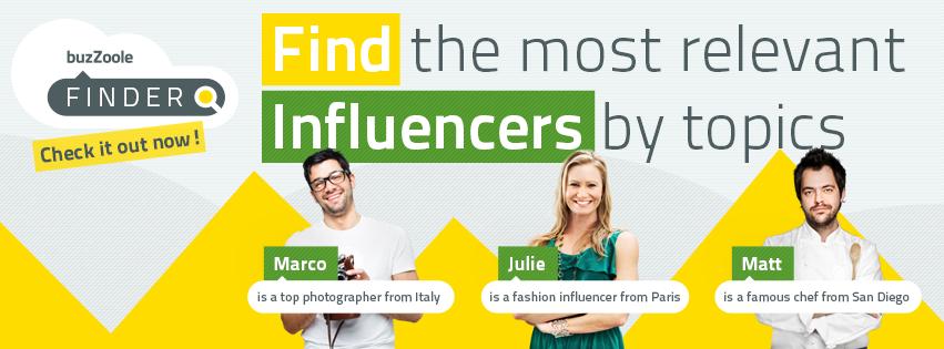 """Volete sapere chi sono i più influenti in rete di un determinato argomento? Buzzoole (una start up napoletana) ha creato Finder, la prima piattaforma italiana di influence engine optimization che mette in connessione aziende e influencer in rete. Infatti questa piattaforma consente alle aziende, tramite un algoritmo, di identificare """"influenzatori social"""" nel loro campo."""