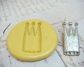 TALL CROWN - Flexible Silicone Mold - Push Mold, Jewelry Mold, Polymer Clay Mold, Resin Mold, Craft Mold, Food Mold, PMC Mold