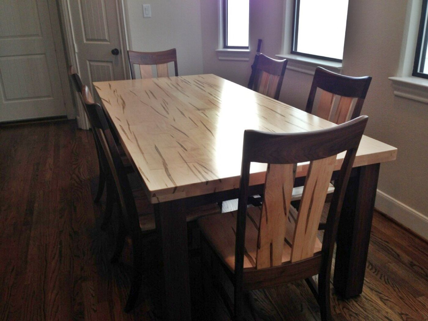 The Customers Loved Their Wormy Maple Table And Chairs That