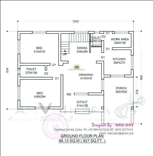Using Autocad To Draw House Plans House Plans Drawing House Plans Simple House Plans