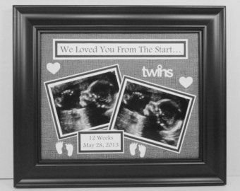 Twins Picture Frame Twins Ultrasound Picture Frame Gift For Twin Pregnancy