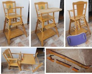 1950s Wooden High Chair Details about Vintage 1950s