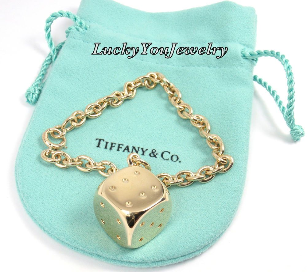 3afd747a97704 Rare Vintage 100% Authentic Tiffany Co. 14k Yellow Gold Lucky Dice ...