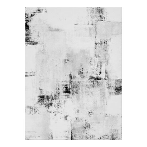 Snowfall black and white abstract ar poster