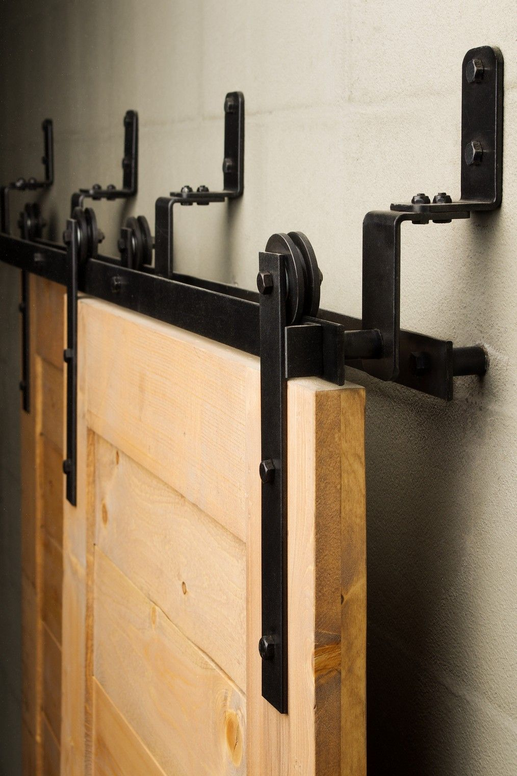 Decorating rolling door hardware photographs : The Bypass sliding barn door hardware is efficient in tight spaces ...