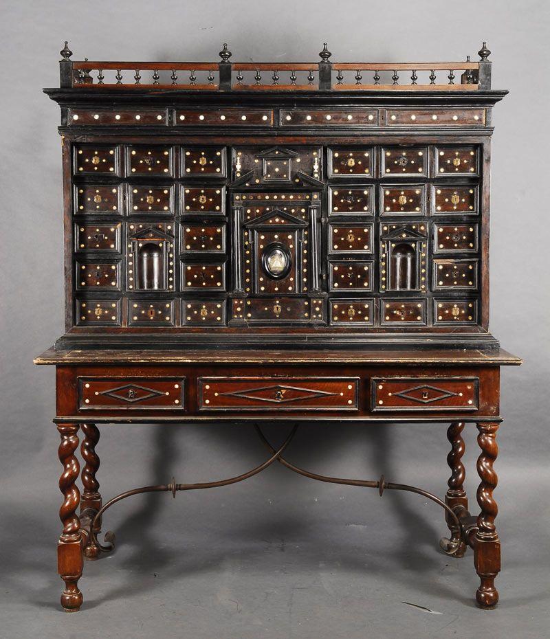 Alcala Subastas Con Imagenes Bargueno Muebles De Estilo Escritorios Antiguos