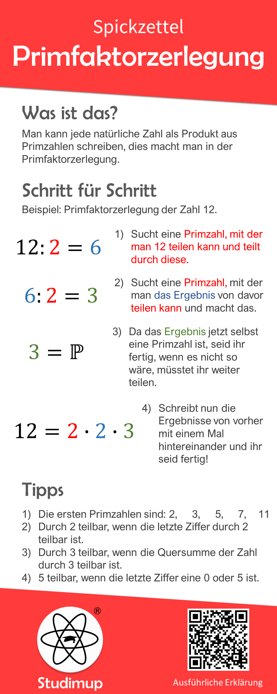 Primfaktorzerlegung Spickzettel Nachhilfe Mathe Primfaktorzerlegung Spickzettel