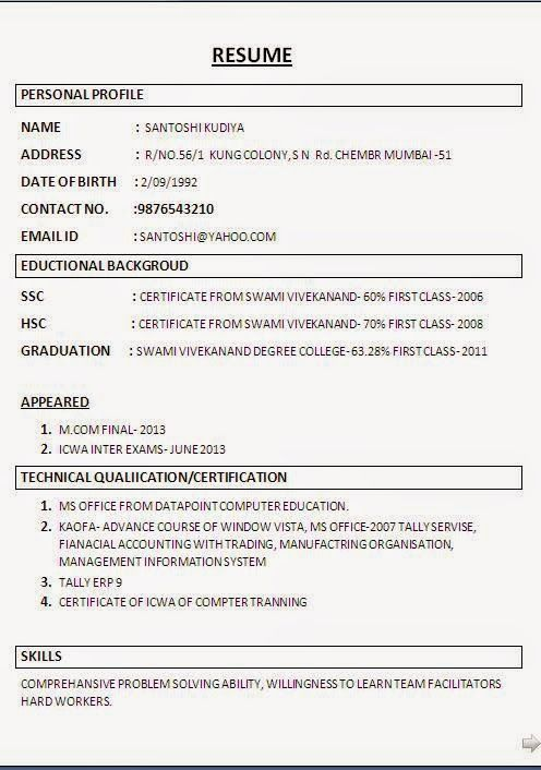 editing resume Sample Template Example ofExcellent Curriculum Vitae - Job Resume Format Download