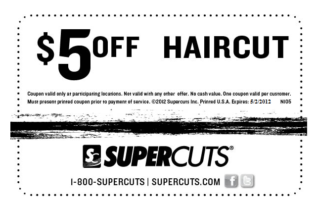 photograph about Supercut Printable Coupons named $5 pounds off a haircut at Supercuts Coupon codes Haircut